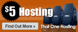 $5 Hosting - No Gimmicks